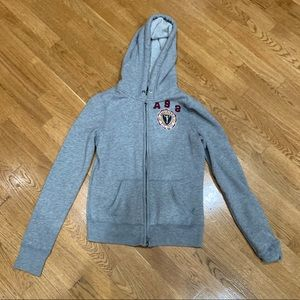 Abercrombie sweatshirt zippered hoodie